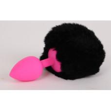 Пробка силиконовая с черным хвостом Задорный Кролик 47188-1-MM