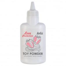 Пудра для игрушек ароматизированная Love Protection Клубника со сливками 30гр 1820-01Lola