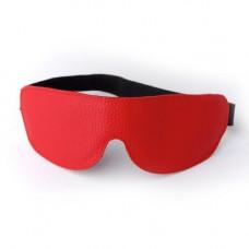 Маска на глаза кожаная литая красная 3081-2