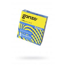 Презервативы Ganzo Classic, классические, с обильной смазкой, латекс, 18,5 см, 3 шт