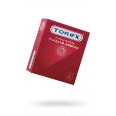 Презервативы сладкая любовь TOREX  латекс, №3, 18 см
