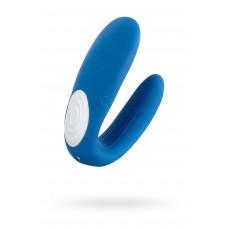 Многофункциональный стимулятор для пар Satisfyer Partner Whale, силикон, голубой, 17см