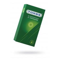 Презервативы точечные TOREX  латекс, №12, 18 см