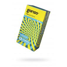 Презервативы Ganzo Ribs, с ребристой поверхностью, латекс, 18 см, 12 шт