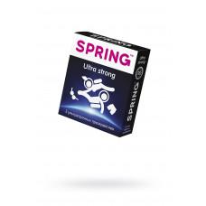 Презервативы Spring Ultra strong, утолщенные, латекс, 19,5 см, 3 шт