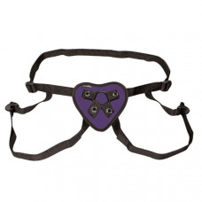 Трусики с фиолетовым сердечком для страпона