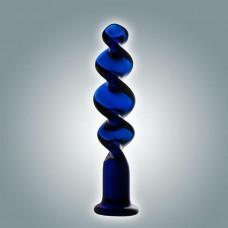 Синий винтовой стимулятор - 18 см.