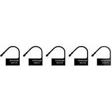 Черные пломбы-шильдики для пояса верности - 5 шт.