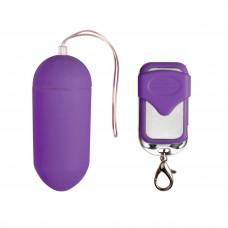 Фиолетовое виброяйцо Easytoys Vibration Egg с пультом ДУ