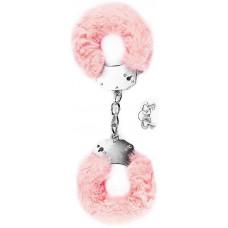 Наручники в нежно-розовой меховой опушке