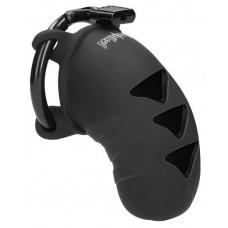 Черный мужской пояс верности Cock Cage Model 07 Chastity 3.1