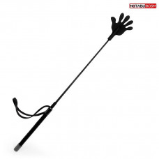 Черный стек с наконечником-ладошкой - 55 см.