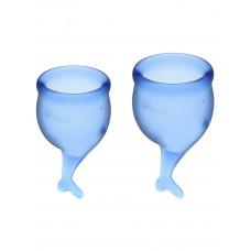 Набор менструальных чаш, 2шт Feel Secure Menstrual Cup Dark Blue