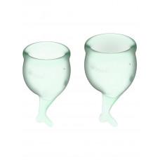 Набор менструальных чаш 2 шт Feel Secure Menstrual Cup Light Green