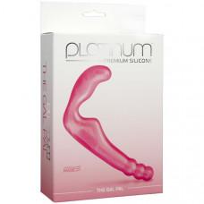 Розовый Безременной страпон, стимулятор точки G без вибрации