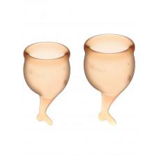 Набор менструальных чаш 2 шт Feel Secure Menstrual Cup Orange