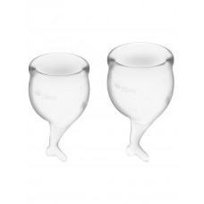 Набор менструальных чаш 2 шт Feel Secure Menstrual Cup Transparent