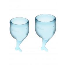 Набор менструальных чаш 2 шт Feel Secure Menstrual Cup Light Blue