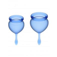 Набор менструальных чаш, 2шт Feel Good Menstrual Cup Dark Blue