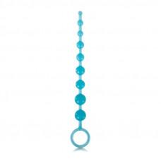 Длинная анальная цепочка Firefly - Pleasure Beads - Blue