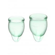Набор менструальных чаш, 2шт Feel confident Menstrual Cup Light Green