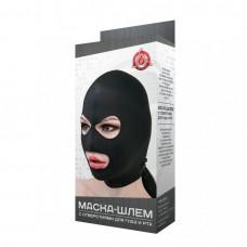 Маска-шлем с отверстиями для глаз и рта