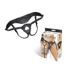 Черные трусики из патентованной кожи для страпона BLK