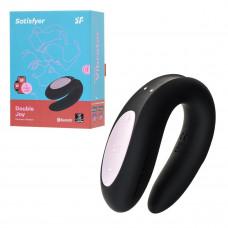 Парный стимулятор из силикона Satisfyer Partner Double Joy, 18 см, черный