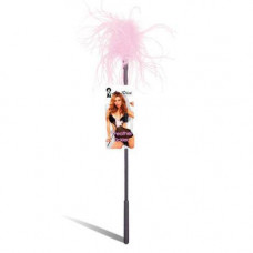 Ласкающая палочка с розовыми перьями FEATHER TICKLER