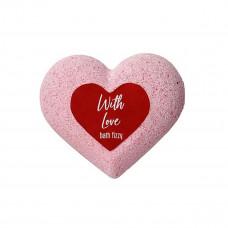 Шипучая соль для ванн With Love с ароматом розы 130 г