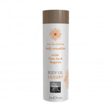 Съедобное масло для тела Luxury body oil - Зеленый чай и мандарин 75 мл