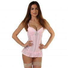 Сорочка цвета розовой пудры с трусиками
