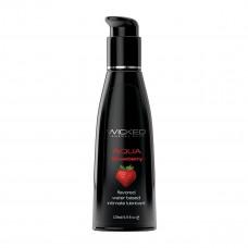 Лубрикант со вкусом сочной клубники WICKED AQUA Strawberry 120 ml