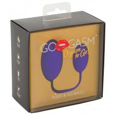 GoGasm Анальный и вагинальный шарики фиолетовый