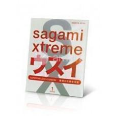 Презервативы SAGAMI Xtreme Superthin ультратонкие 1шт.