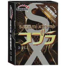 Презервативы SAGAMI Cobra 3шт. конусообразные супер облегающие