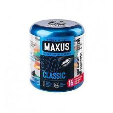 Maxus Classic - классические презервативы в ж/б, 15 шт