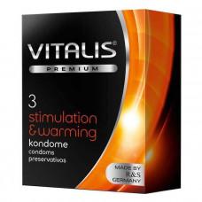 Презервативы согревающие - Vitalis, 3 шт