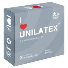 Презервативы Unilatex Ribbed 3 шт в уп
