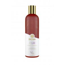 Массажное масло с ароматом тиянской ванили и лаванды Dona Relax, 120 мл