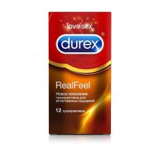 Очень тонкие презервативы Real Feel от Durex, 12 штук