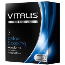Кондомы с охлождающим эффектом - Vitalis, 3 шт