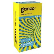 Презервативы Ganzo Ribs, 12 шт.