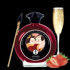 Съедобная краска для тела Shunga Strawberry/Champagne Body Paint, 100 мл
