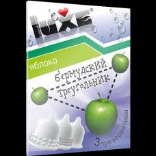 Презервативы с ароматом яблока Бермудский треугольник - Luxe, 3 штуки