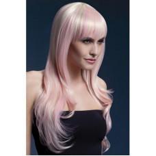 Парик Сладкая Сиенна с розовыми прядями (блонд) - Fever