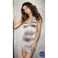 Серебристое платье с кружевными вставками и трусики Halla - Passion